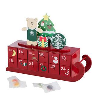 スターバックスコーヒー(Starbucks Coffee)の木製アドベントカレンダー 台湾スターバックス クリスマス ベアリスタ 熊 引出し(その他)