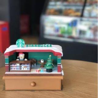 スターバックスコーヒー(Starbucks Coffee)のクリスマス ベアリスタ 置物 引き出し オルゴール 台湾スターバックス 熊 (その他)