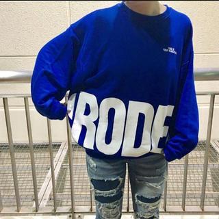 ロデオクラウンズワイドボウル(RODEO CROWNS WIDE BOWL)のロデオ★ メンズ ラウンド ロゴ ビッグ トップス/L(スウェット)