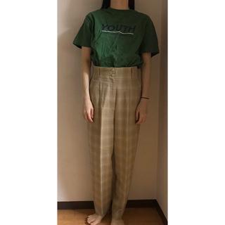 ロキエ(Lochie)のvintage pastel check pants(カジュアルパンツ)