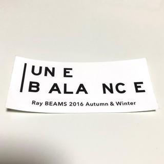 ビームス(BEAMS)のRay beams 16aw 非売品 ステッカー(ノベルティグッズ)