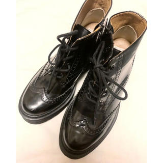 snidel - スナイデル ブーツ L 黒 厚底ブーツ スニーカー 24.5 24