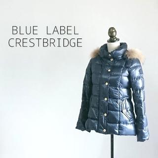 バーバリーブルーレーベル(BURBERRY BLUE LABEL)のBLUE LABEL CRESTBRIDGE ブルーレーベル ダウンジャケット(ダウンジャケット)