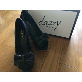 dazzy store - dazzy store黒レースヒール23〜23.5cm