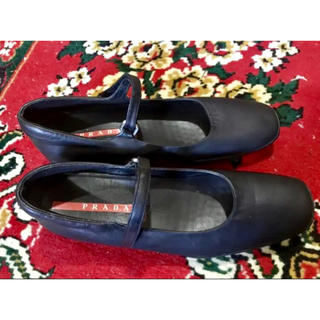 プラダ(PRADA)の大きめ39    PRADA ストラップシューズ(ローファー/革靴)