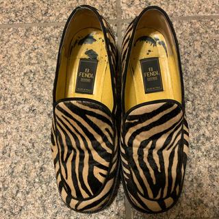 フェンディ(FENDI)のFENDI ハラコ ゼブラ柄 ローファー(ローファー/革靴)