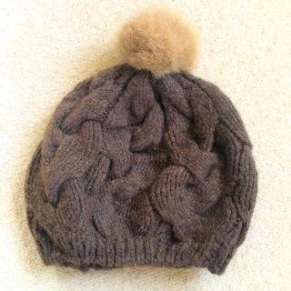 アースミュージックアンドエコロジー(earth music & ecology)のニット 帽子(ハンチング/ベレー帽)
