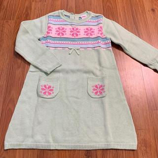 GYMBOREE - ジンボリー 雪柄ニットドレス 5 110 ワンピース フェアアイル ポケット