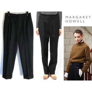 マーガレットハウエル(MARGARET HOWELL)の美品 マーガレットハウエル 16AW フランネル ペーパーバッグトラウザーズ(その他)