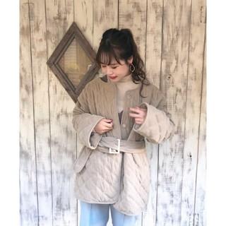 ミスティック(mystic)の新品未使用タグ付きミスティックキルティングジャケットコート(ブルゾン)
