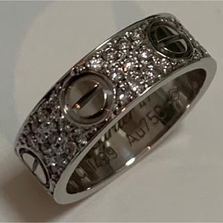 カルティエ(Cartier)のカルティエ ラブリング ダイヤ 47 7号 ホワイトゴールド 証明書 鑑別書付(リング(指輪))