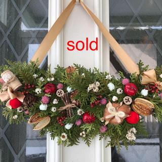 3100→2500円 お値下げしました 針葉樹のクリスマスガーランド(ドライフラワー)