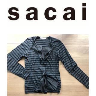サカイラック(sacai luck)のsacai luck カットソーカーディガン(カーディガン)