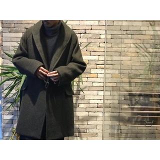 COMOLI - コモリ COMOLI ウール ショールカラー コート グリーン 3