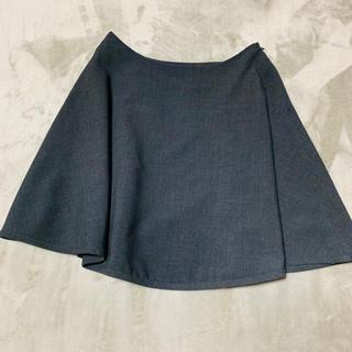 ドゥーズィエムクラス(DEUXIEME CLASSE)のrooch グレーフレアスカート 36 クリーニング済み(ミニスカート)