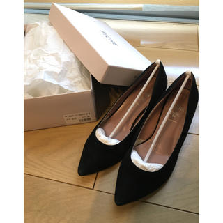 PICHE ABAHOUSE - 黒 パンプス 靴 PICHE ペリーコ 36 23 スエード ダイアナ