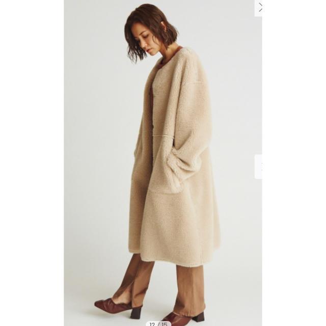 Mila Owen(ミラオーウェン)の☆期間限定 値下げ☆MilaOwen リバーシブルノーカラーボアコート レディースのジャケット/アウター(ロングコート)の商品写真