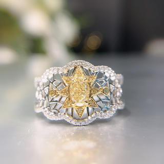 新作♡銀河系の太陽♡イエローダイヤモンドリング(リング(指輪))