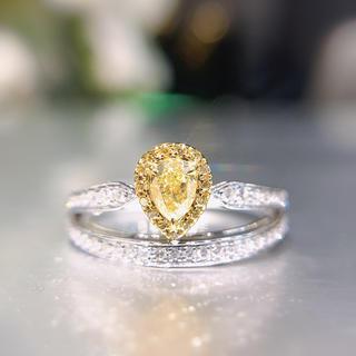 在庫処理残り一点イエローダイヤモンドリング(リング(指輪))