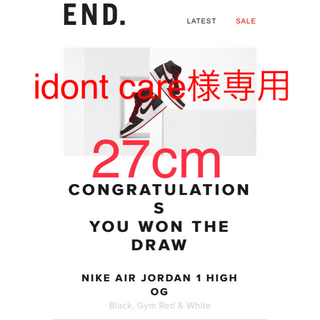 ナイキ(NIKE)の27cm NIKE AIR JORDAN 1 HIGH BLOODLINE(スニーカー)