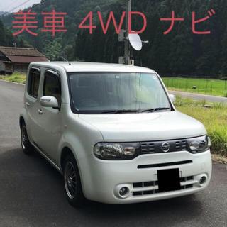 ニッサン(日産)の美車 22年式 ニッサン キューブ 4WD 純正ナビ(車体)