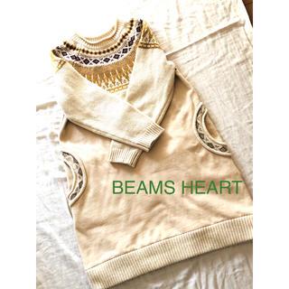 BEAMS - BEAMS HEART ノルディック風カットソー