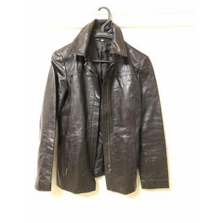 ムジルシリョウヒン(MUJI (無印良品))の無印良品 山羊革のジャケット 女性用 焦げ茶M(その他)