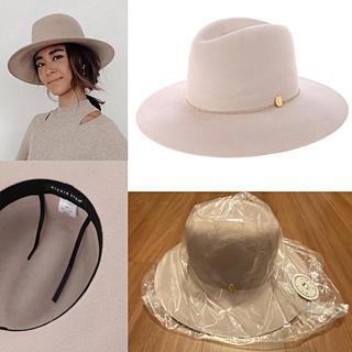 アリシアスタン(ALEXIA STAM)のアリシアスタン Hat Sand Pink ハット サンド ピンク 新作 完売(ハット)