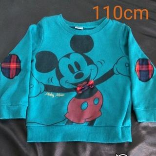 アカチャンホンポ(アカチャンホンポ)のミッキーマウストレーナー(蝶ネクタイ) 110cm(Tシャツ/カットソー)