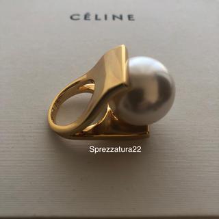 アパルトモンドゥーズィエムクラス(L'Appartement DEUXIEME CLASSE)のnamaco 様専用巾着付き♡【Celine 】パールリング 18k  刻印入り(リング(指輪))