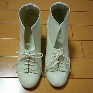 ステュディオス(STUDIOUS)のサキアスsakias  ブーツ  オフホワイト(ブーツ)