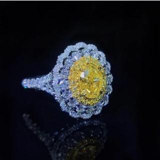 GIA♡1.01ct ファンシーイエローダイヤモンドリング(リング(指輪))