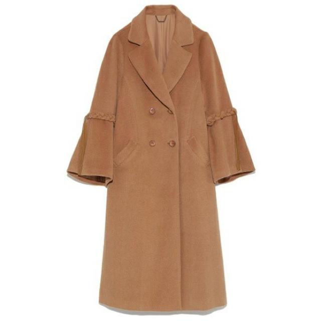 Lily Brown(リリーブラウン)のlilybrown フレアスリーブコート レディースのジャケット/アウター(ロングコート)の商品写真