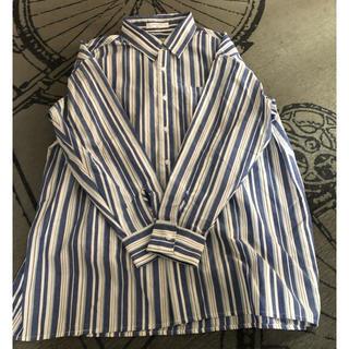 SM2 - Samansa Mos2 Blue ストライプシャツ