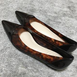 RANDA - べっこう柄 ペタンコ靴 美品 パンプス