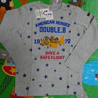 DOUBLE.B - ミキハウス・ダブルB・120・アメリカンヒーローロンT・新品未使用