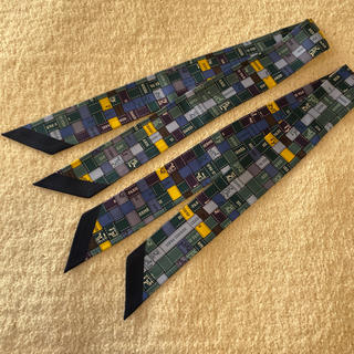 Hermes - エルメス ツイリー リボン柄 二本セット 新品 海外直営店