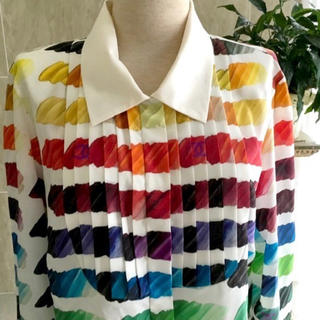 シャネル(CHANEL)の新品同様☆CHANEL☆2014年モデル☆ココマーク☆ペイントシャツ☆42サイズ(シャツ/ブラウス(長袖/七分))