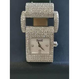 PIAGET - 【美品】PIAGET ピアジェ ミスプロトコール フルダイヤ WG 腕時計