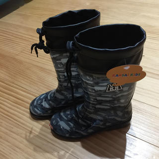 新品未使用男の子長靴19㎝