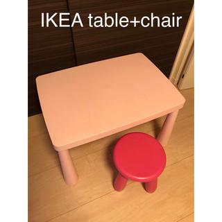 イケア(IKEA)のIKEA テーブル イス付き(コーヒーテーブル/サイドテーブル)