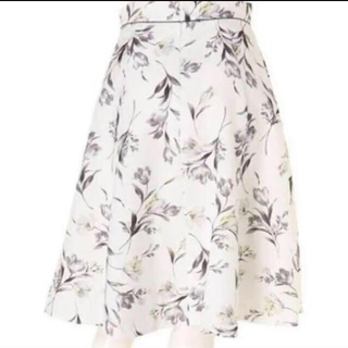 アプワイザーリッシェ(Apuweiser-riche)の花柄 チューリッププリントスカート (ひざ丈スカート)