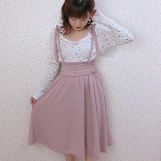ハニーシナモン(Honey Cinnamon)のハニーシナモン ピンク スカート(ひざ丈スカート)