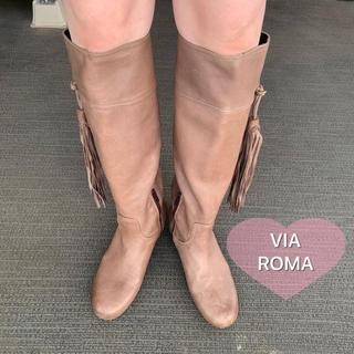 ヴィアバスストップ(VIA BUS STOP)の【VIA ROMA】ヴィアロマ、ロングブーツ、35(ブーツ)