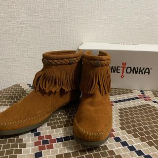 Minnetonka - ミネトンカ フリンジブーツ