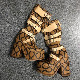 ヴィヴィアンウエストウッド(Vivienne Westwood)のスクイグル クランパー パイレーツブーツ(ブーツ)