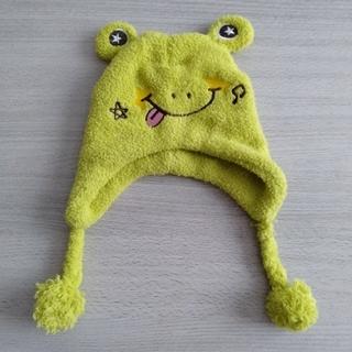 ハローキティ(ハローキティ)の子供キッズ冬帽子ニット帽 キティ カエル ネコ ミニー(帽子)