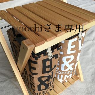 スノーピーク(Snow Peak)のゴミ箱木製折りたたみ分別白黒(ハンドメイド) (テーブル/チェア)