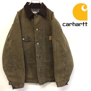 carhartt - 美品 90's carhartt ダッグ生地 カバーオール 人気のアースカラー