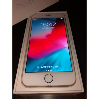au - 【箱付き美品】iPhone 6 16 GB Gold au